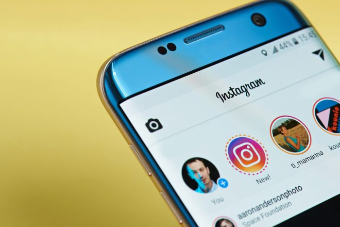 The Instagram app on a cell phone
