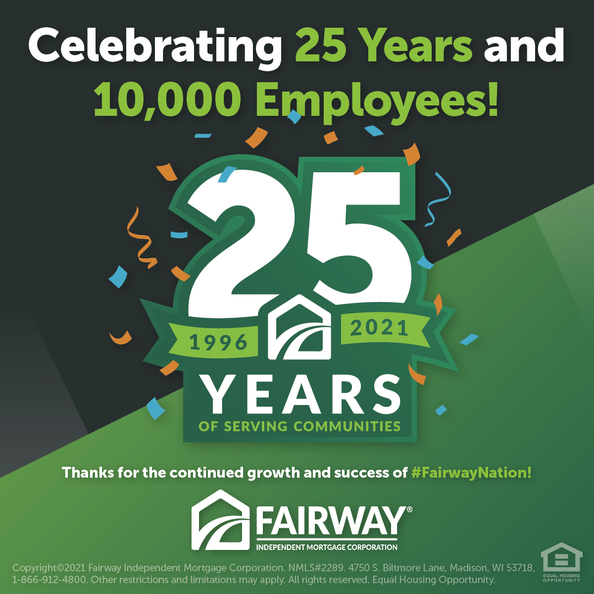 25 Year Anniversary of Fairway